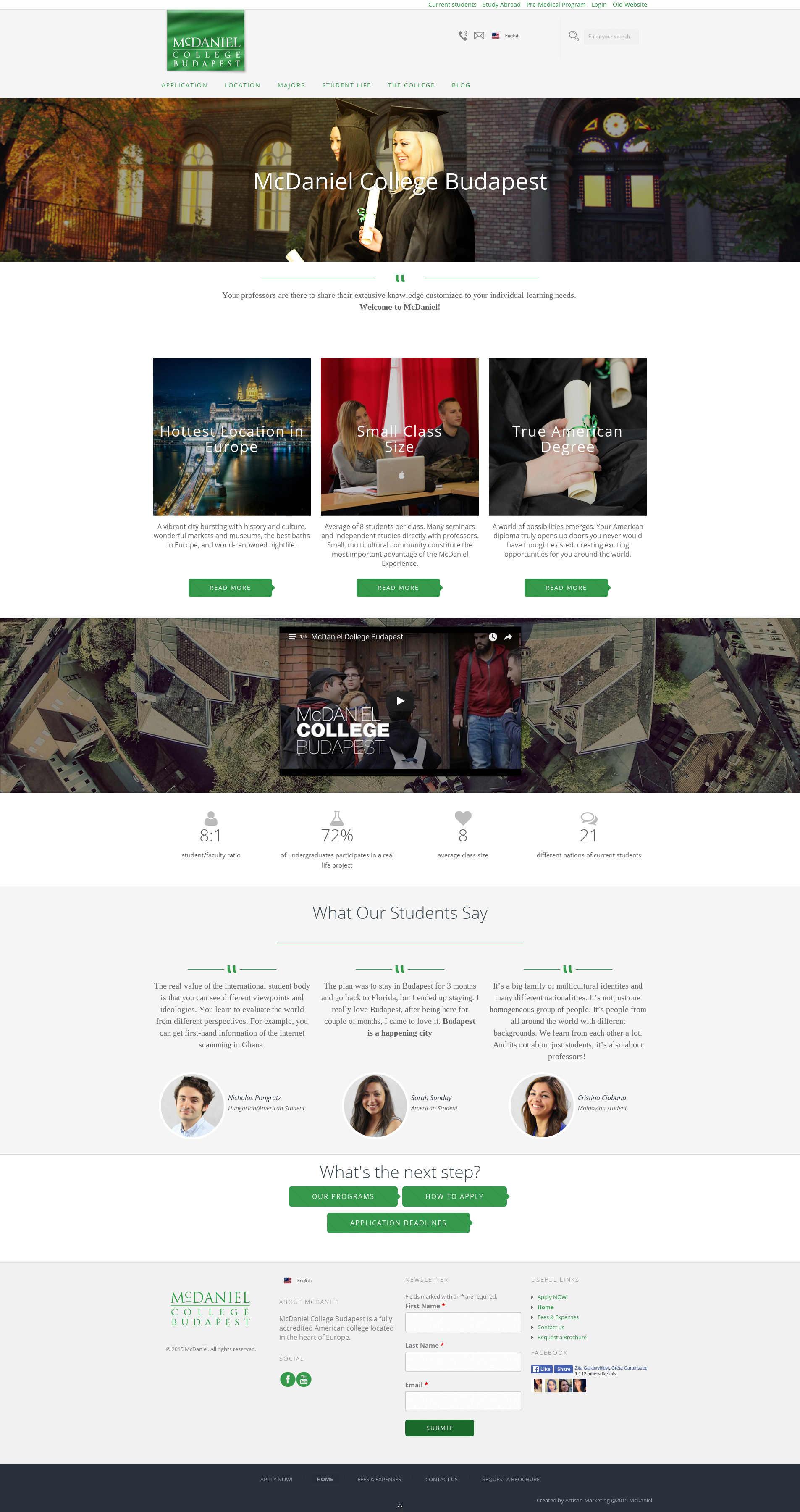 Mcdaniel College Budapest Website